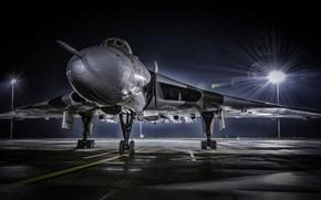 Picture light, aviation, night, lighting, combat aircraft, winged machine