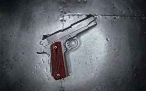 Wallpaper gun, background, macro