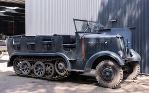 Picture tractor, artillery, half-track, Sd Kfz 6