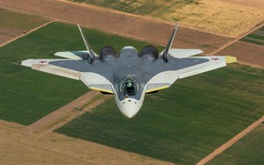 Picture fifth generation, PAK FA, T-50, Russian, fighter, multifunction
