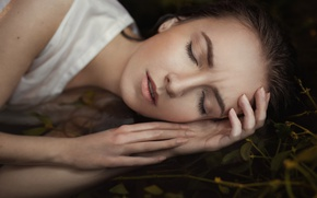 Picture face, sweetheart, sleep, portrait, light, brown hair, handle, beautiful, the beauty, baby, young, cute, beauty, …