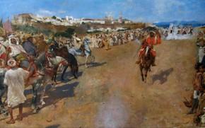 Picture 1884, Theo van Rysselberghe, Fantasia Arabe