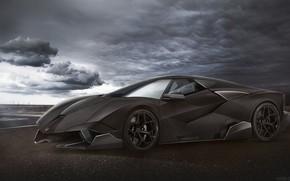 Picture Concept, Auto, Black, Figure, Lamborghini, Machine, Clouds, Background, Car, Car, Art, Art, Rendering, Yasid Design, …