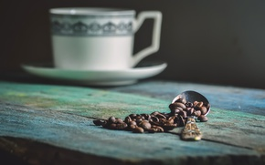 Picture spoon, grain, coffe