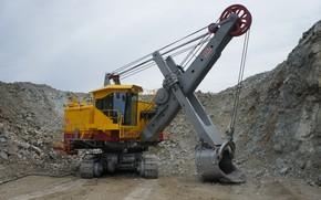 Picture excavator, quarry, mining equipment, ECG, ЭКГ5А