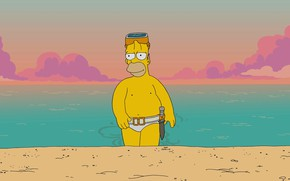Picture Sea, The simpsons, Figure, Homer, Simpsons, Art, Cartoon, The Simpsons, Homer Simpson, Homer Simpson, Homer, ...