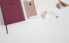 Picture apple, Notepad, phone, shell, iphone, diary, 2017