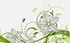 Picture flowers, pattern, texture, vector