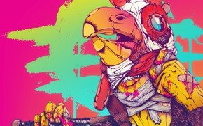Picture The game, Blood, Brush, Background, Cock, Miami, Richard, Character, Hotline Miami, Richard, Synthpop, Darkwave, Synth, …