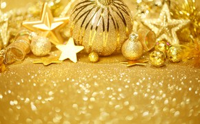 Picture tape, balls, new year, decoration, stars, decor