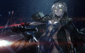 Picture sword, armor, anime, ken, blade, warrior, oppai, Saber, Fate, japonese, Type Moon