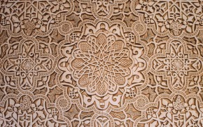 Picture texture, ornament, skill, woodcarving, Moorish pattern