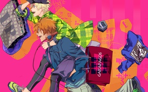 Picture anime, art, running, guys, Uta no Prince-sama