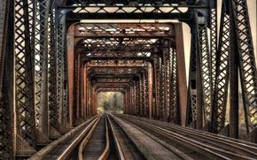 Picture bridge, railroad, iron