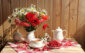 Wallpaper summer, bouquet, cottage, lifes