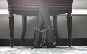 Wallpaper girl, background, feet