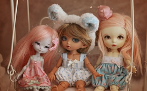 Picture swing, toys, doll