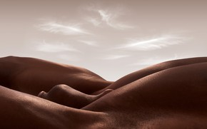 Wallpaper the body as a journey, Carl Warner, the Nude, landscapes of human bodies, the male ...