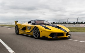 Wallpaper Ferrari, Yellow, Sport, FXXK