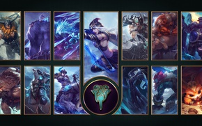 Picture wallpaper, logo, game, bear, blizzard, snow, League of Legends, LOL, MOBA, horn, Riot Games, Freljord, …