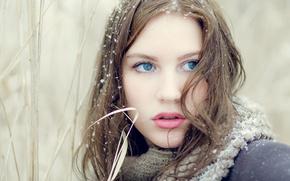 Picture look, snow, model, Ana-Carolina