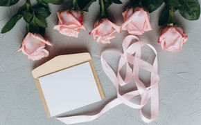 Picture letter, flowers, roses, Tape, pink, the envelope