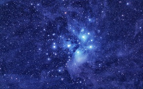 Picture The Pleiades, M45, star cluster