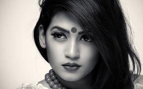 Picture face, hair, portrait, Indian