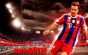 Picture wallpaper, sport, stadium, football, player, FC Bayern Munchen, Allianz Arena, Mario Gotze