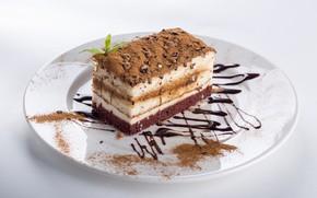Picture chocolate, cake, cream, sweet, souffle