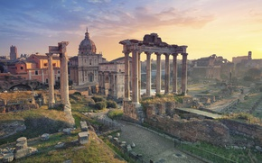 Wallpaper Italy, view, Europe, panorama, Rome, ruins, Rome, the city, city, travel, Italy