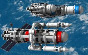 Picture space, spaceship, mars, scifi, blender3d