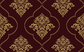 Picture vector, gold, ornament, pattern, ornament, seamless, damask
