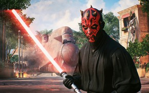 Picture red, sith, Darth Maul, 2017, Star Wars, Battlefront 2, lightsaber