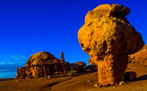 Picture the sky, stones, rocks, AZ, USA, Ghost town