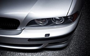 Picture BMW, E39, Silver, Asphalt, Angel Eye