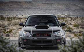 Wallpaper Subaru, Impreza, WRX, STI, Front, Black