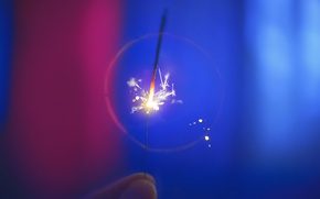 Picture macro, background, holiday, fingers, Sparkler