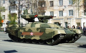 Picture Terminator, The Russian Army, Victory parade, BMPT-72