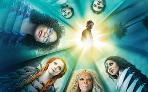 Picture fiction, fantasy, poster, Chris Pine, Chris Pine, Reese Witherspoon, Reese Witherspoon, A Wrinkle in Time, ...