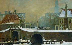 Wallpaper Wouter Johannes van Troostwijk, Raampoortje in Amsterdam, the urban landscape, picture