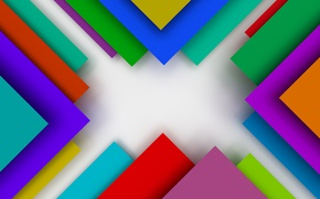 Wallpaper colorful, abstract, design, background, geometry, geometric shapes, 3D rendering