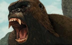 Picture King Kong, King Kong, art, mouth, fangs