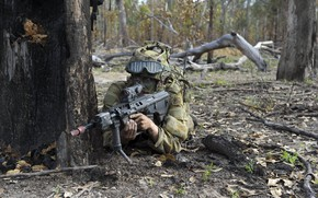 Picture weapons, soldiers, Australian Army