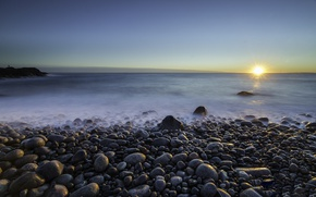 Picture dawn, coast, morning, Norway, Norway, Larvik