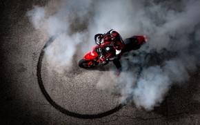Picture Ducati, bike, smoke, motorcycle, man, 1100 evo