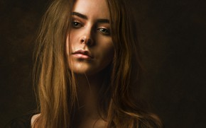 Picture background, model, portrait, makeup, hairstyle, brown hair, twilight, beauty, Lashon Rise