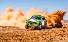 Picture Sand, Mini, Dust, Sport, Green, Speed, Race, Skid, Rally, Rally, The front, Dune, Raid, MINI …