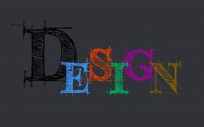 Picture design, letters, design, the word