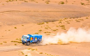 Picture The sky, Sand, Nature, Dust, Sport, Speed, Truck, Race, Master, Beauty, Russia, Beast, Kamaz, Rally, ...